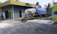 Truk Tangki BBM Terbakar di SPBU Batanghari Lamtim