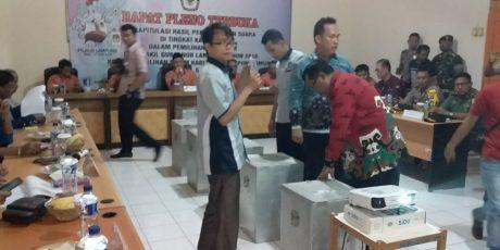 Pleno KPU Lamtim, Arinal -Chusnunia Raih Suara Terbanyak