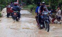 Hujan Deras, Puluhan Pekon Di Tanggamus Terendam Banjir