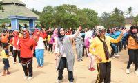 Ini Yang Dilakukan Ketua TPKK Lamtim di Dusun Srikaloko