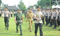 Polres Lampung Timur Siagakan Personil Hadapi Bencana Alam