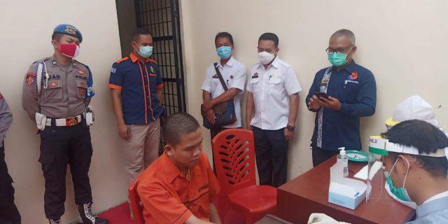 Hasil Rapid Tes Tahanan Polres Lampung Timur Non Reaktif Covid-19