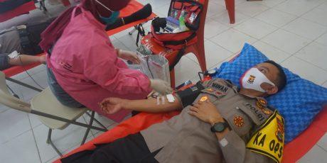 Donor Darah Polres Lamtim Peringati Hari Bhayangkara