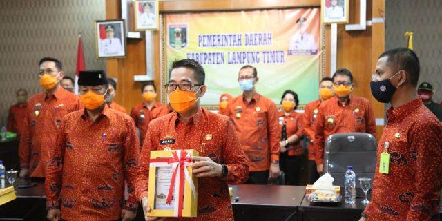 Pemkab Lamtim Kembali Diganjar WTP oleh BPK RI
