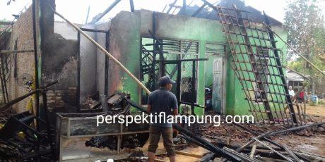 Diduga Lalai, Kompor Akibatkan Kebakaran Di Lampung Timur