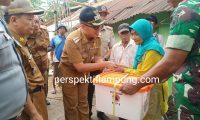 Zaiful Bokhari Serahkan Bantuan Korban Bencana Alam Di Lamtim