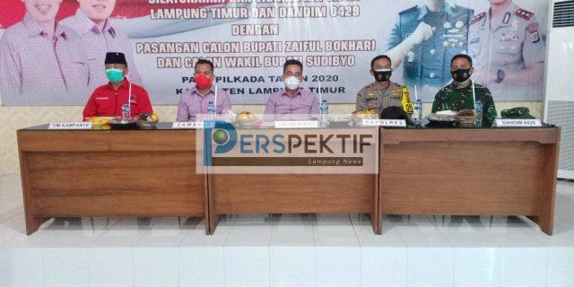 Silaturahmi Kamtibmas, Kapolres Lamtim Himbau Pasangan Calon Terapkan Protokol Kesehatan