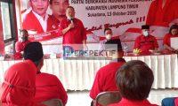 Ketua DPD PDI P Lampung Buka Rakercabsus Dan Musancab Di Lampung Timur